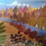 пейзаж из листьев